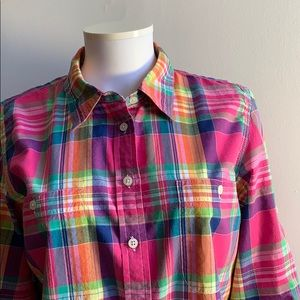 Pink Lauren Ralph Lauren Plaid Shirt